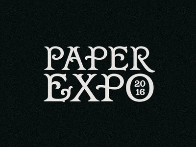 Paper Expo 2016 tuscan paper expo design custom type type design typography type