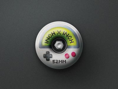 Inch x Inch – Gameboy (3) button inch x inch gameboy wheel skateboarding skateboard design illustration type