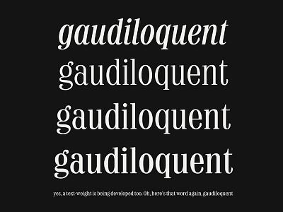 Typeface Specimen design medium regular light italic type design typography type