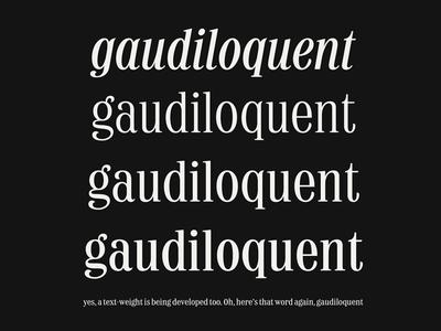 Typeface Specimen