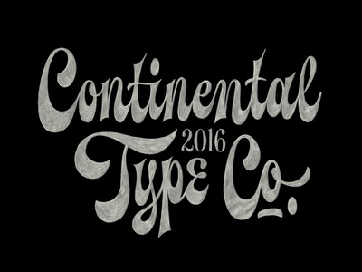 Continental Type Co. spencerian illustration hand-lettering lettering typography type