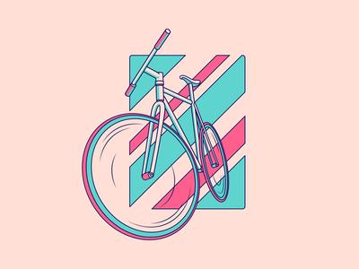 Bike Stuff! bike month biking bicycle design vector illustration