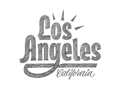 Los Angeles Sketch losangeles la illustration design lettering typography type