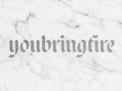 youbringfire_01 stencil blackletter type design design lettering typography type