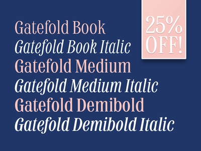 Gatefold Sale! discount myfonts sale font type design typography type