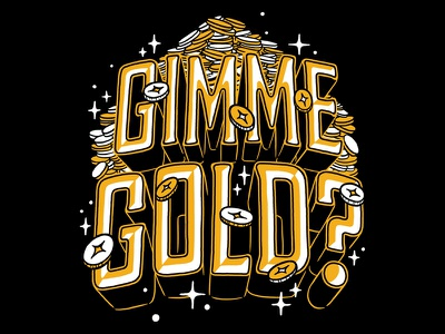 The Lions Blaze! tshirt illustration gold gimme gold typography type lettering skyrim