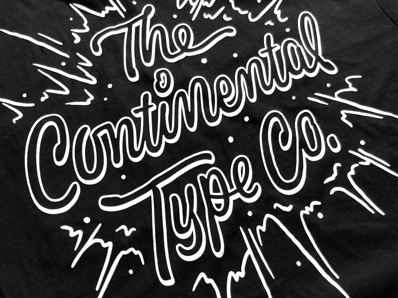 Continental Shirts! tshirt shirt logotype illustration design lettering typography type