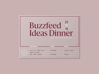 Buzzfeed Ideas Dinner