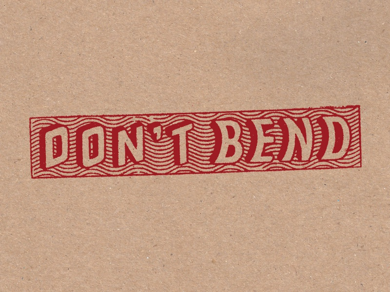 DO NOT BEND illustration stamp handlettering lettering typography type