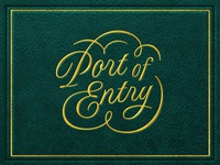 Port of Entry Logotype