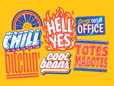 Snapchat Sticker Pack #1 sticker snapchat snap illustration custom lettering handlettering lettering typography type