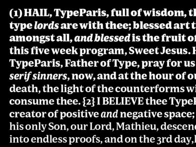 Sweet Jesus Specimen Prayer