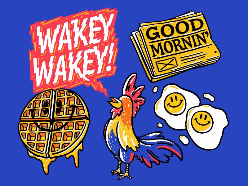 Snapchat Sticker Pack #2 breakfast sticker design sticker snapchat illustration lettering typography type