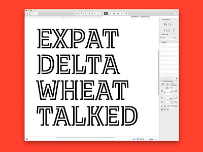 In-Progress Typeface glyphs glyphsapp font design font typeface design typeface type design type
