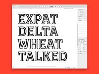 In-Progress Typeface