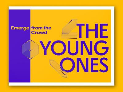 Young Ones Postcard postcard branding art directors club oneclub render 3drender 3d typography type