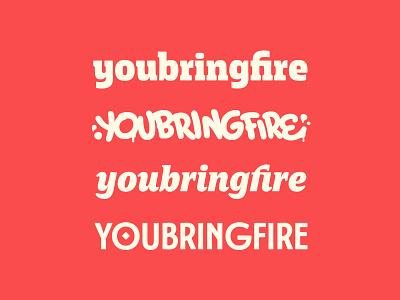 youbringfire logotypes identity logotype type design typeface handlettering lettering typography type