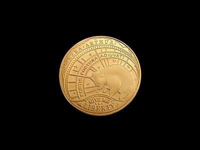 Ezra Arthur Coin challenge coin money coin design illustration coin