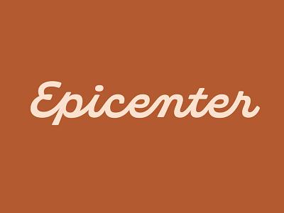 Epicenter Logotype script logo script custom wordmark identity logo logotype type