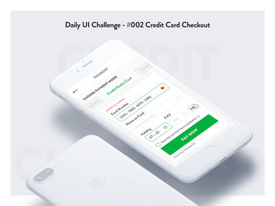 Daily UI Challenge - #002 Credit Card Checkout Form