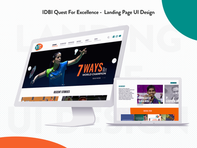 IDBI Quest For Excellence -  Landing Page UI Design