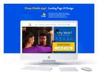 Service Mobile App - Landing Page UI Design