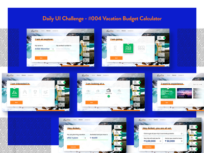 Daily UI Challenge - #004 Vacation Budget Calculator