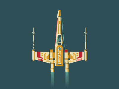 Red Five may 4th the force a new hope space luke skywalker r2-d2 x-wing star wars vector illustration