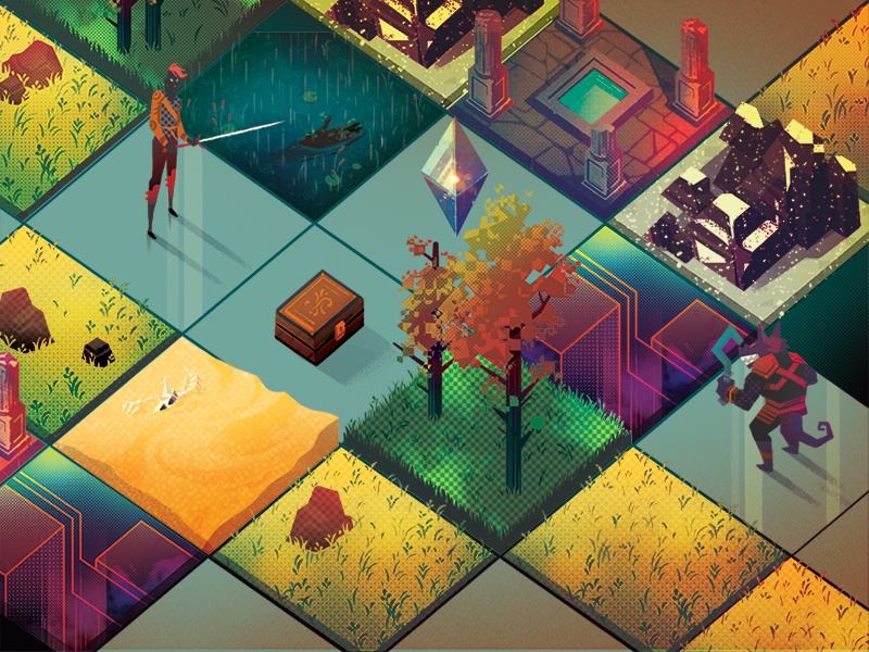Procedural Generation by Lovely Creatures on Dribbble