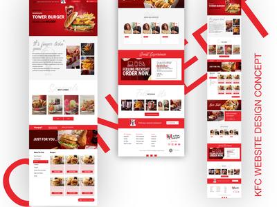 KFC Concept Design Website lettering illustration website minimal web typography ux branding ui design