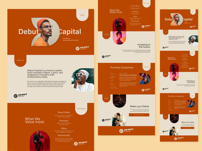 Debut Capital - Landing Page minimalistic agency fun pop typography landing page design landing page concept flat branding website web ux ui design