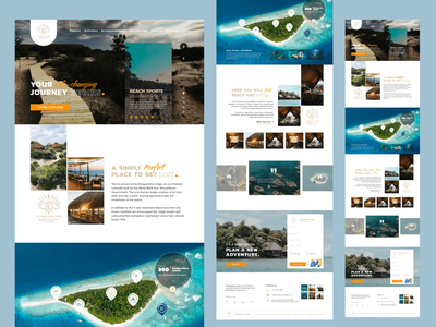 Zenguelemo lodge - Landing Page vacation nature camp eco-friendly travel island lodge landing page design branding website web ux ui design