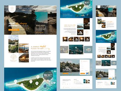 Zenguelemo lodge - Landing Page vacation nature camp eco-friendly travel island lodge landing page design branding website web ux ui design