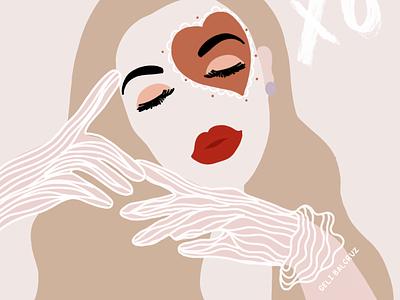 XOXO 💋 illustration art pastel colors women illustration womens day digitalillustration illustration