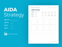 AIDA Strategy marketing instagram post instagram template product design ux