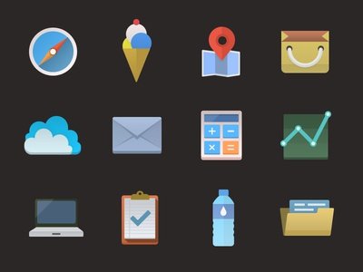 Colorful icons (PSD included)