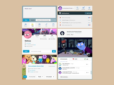 Adventure Time UI Kit [PSD] ui kit freebie psd flat adventure time