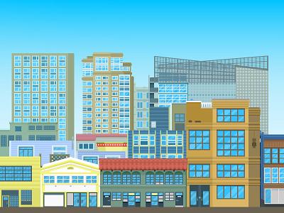 Howard street san francisco illustration buildings wepoke