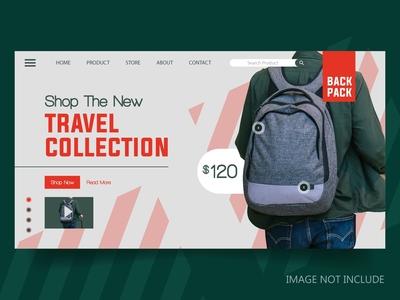 Backpack Shop Landing Page