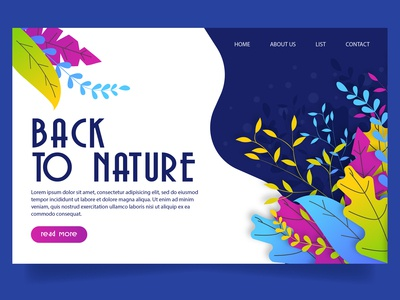 Back to Nature Landing Page Website