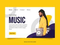 Music Player Landing Page