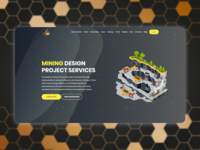 Landing page concept for a mining