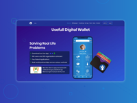 Digital wallet landing page