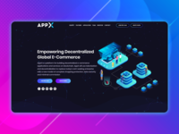 Landing page for crypto product