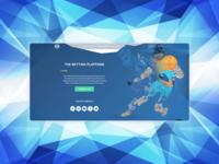 Betting platform landing page