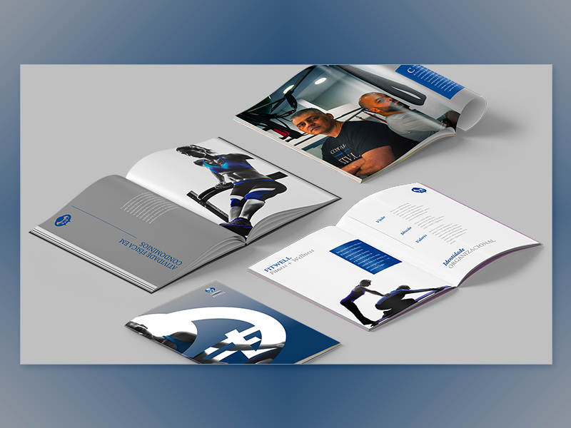Companhia FitWell | Corporate Folder | 02 visual identity publishing content strategy