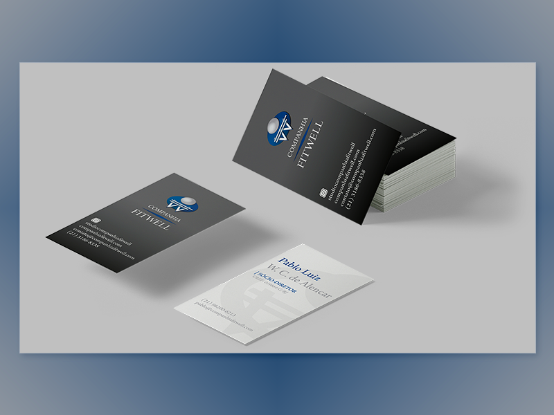 Companhia FitWell | Business card | 01 graphic design publishing visual identity