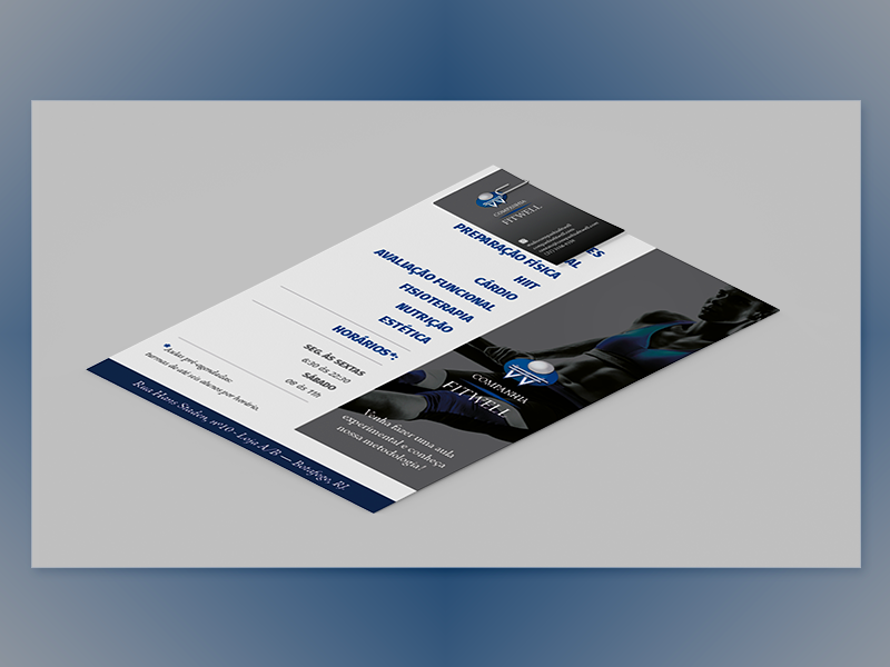 Companhia FitWell | Flyer | 01 publishing visual  identity grahic design