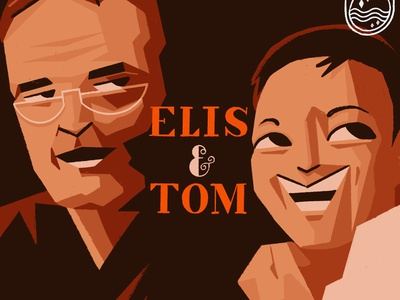 Elis & Tom procreate ipad music cover artwork brazil brasil mpb tom jobim elis regina illustrator illustration