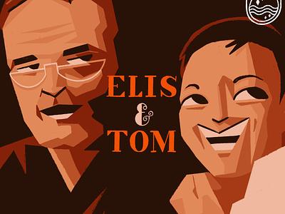 Elis & Tom procreate ipad music cover artwork brazil brasil mpb tom jobim elis regina illustrator illustration